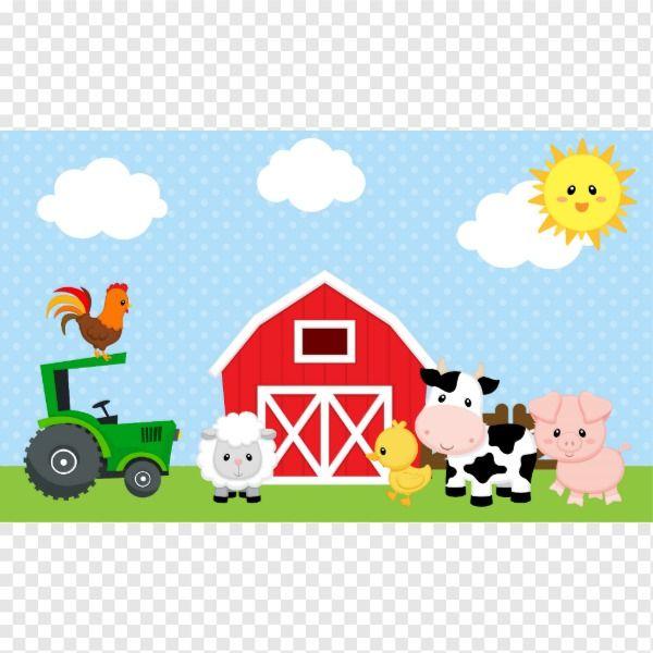 Farm Animals Backdrop Banner Blue For Boys Zazzle Com Farm Animal Birthday Farm Theme Birthday Farm Birthday