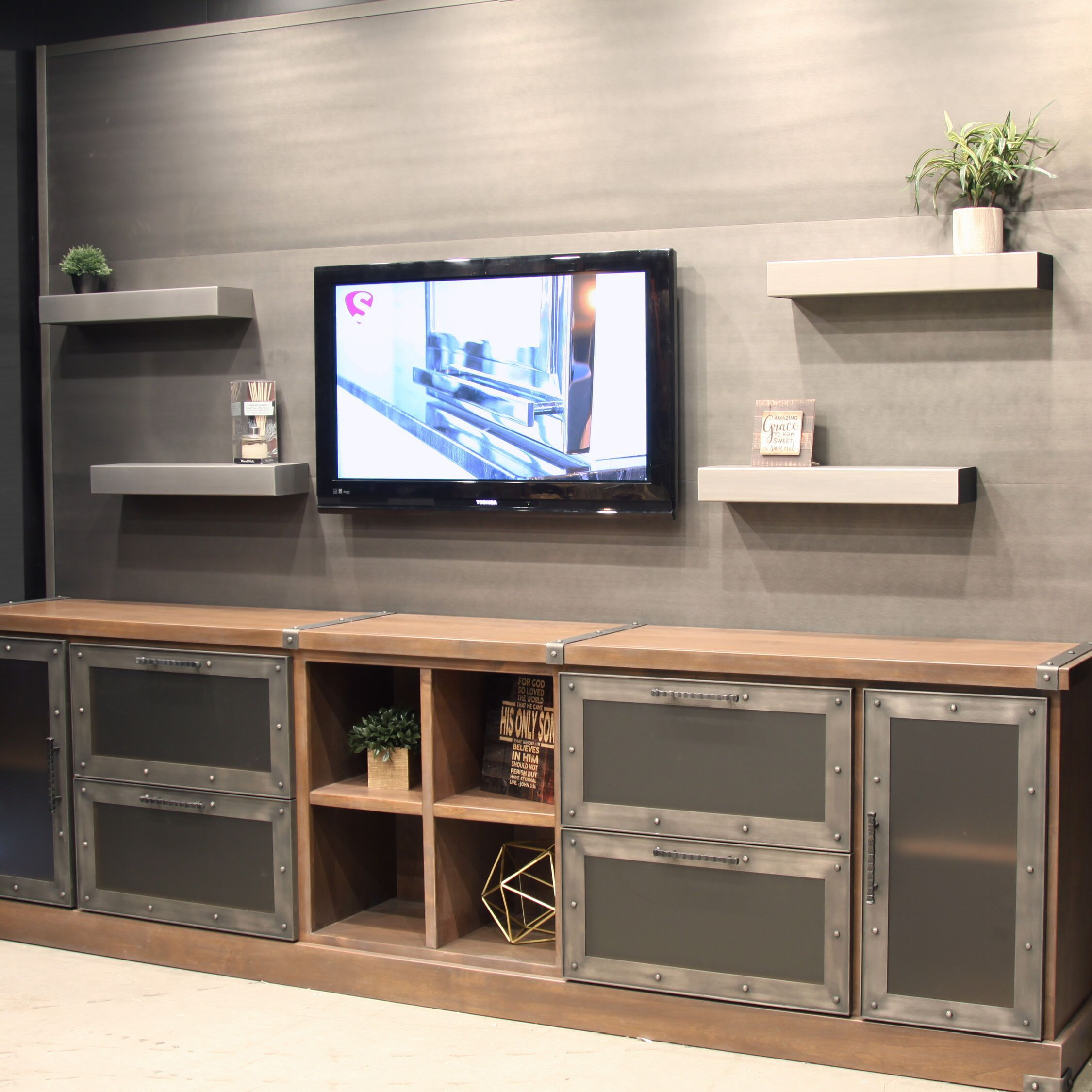 Need New Cabinet Doors For Your Entertainment Center Any Of Our Metal Cabinet Doors Can Be Customized To Cabinet Doors New Cabinet Doors Custom Cabinet Doors