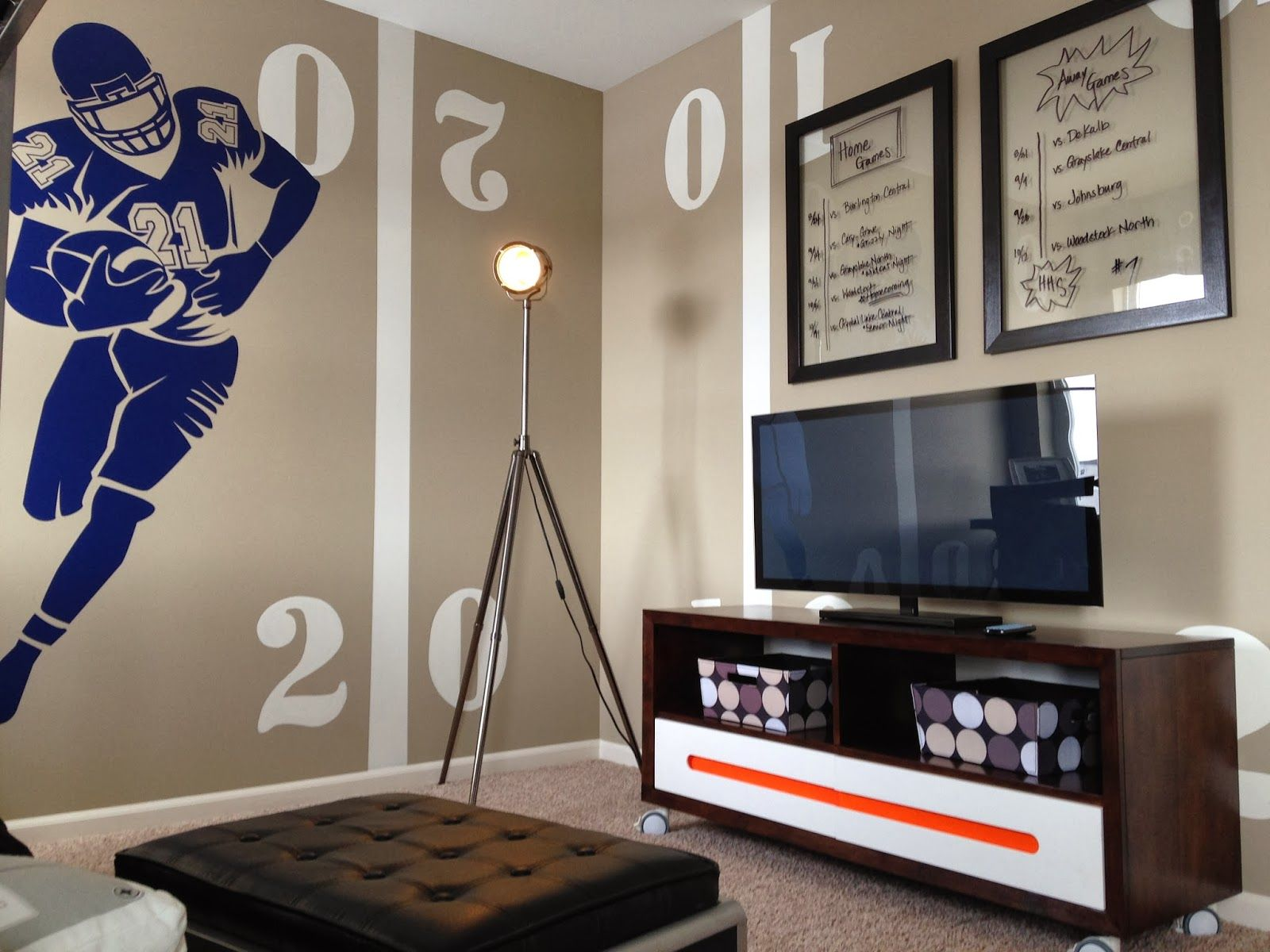 Boys Football Bedroom Ideas boys football room. love this color so much more than green