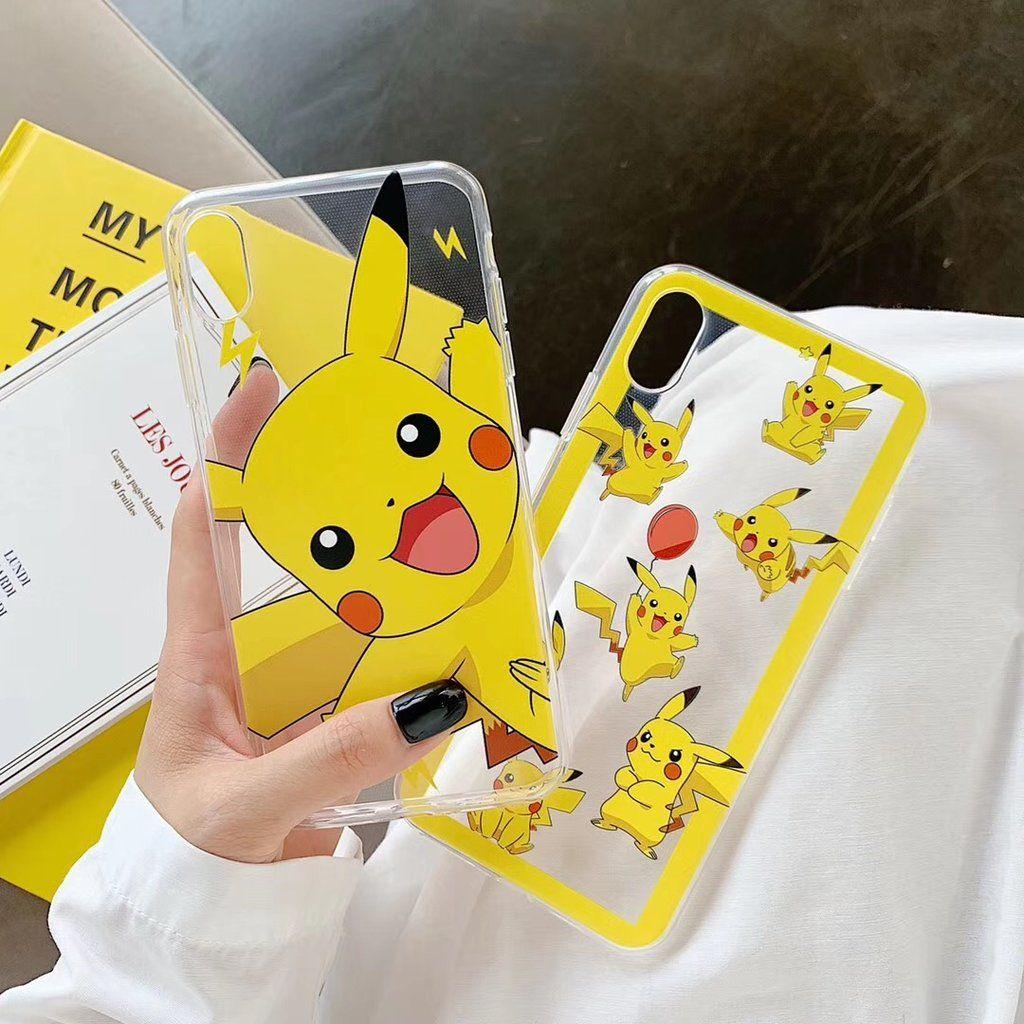 Pikachu Pokemon Cartoon Character Transparent Phone Case