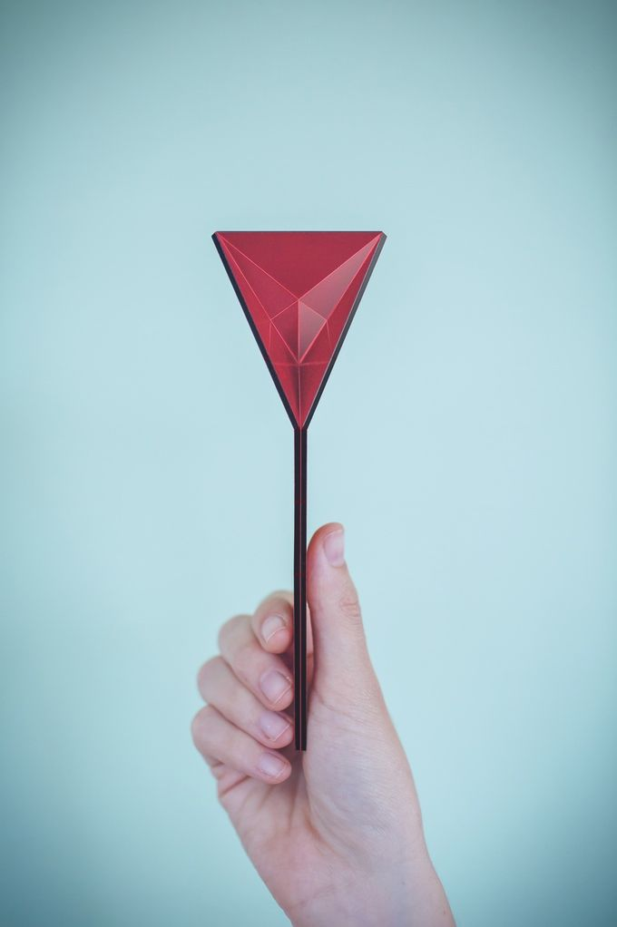 This Origami Like Spoon From Polygons Design Lays Flat And Folds