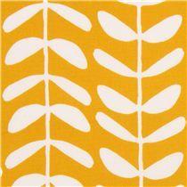 goldgelber 'Vines' Blatt Lianen Blumen Cloud 9 Canvas Bio-Stoff