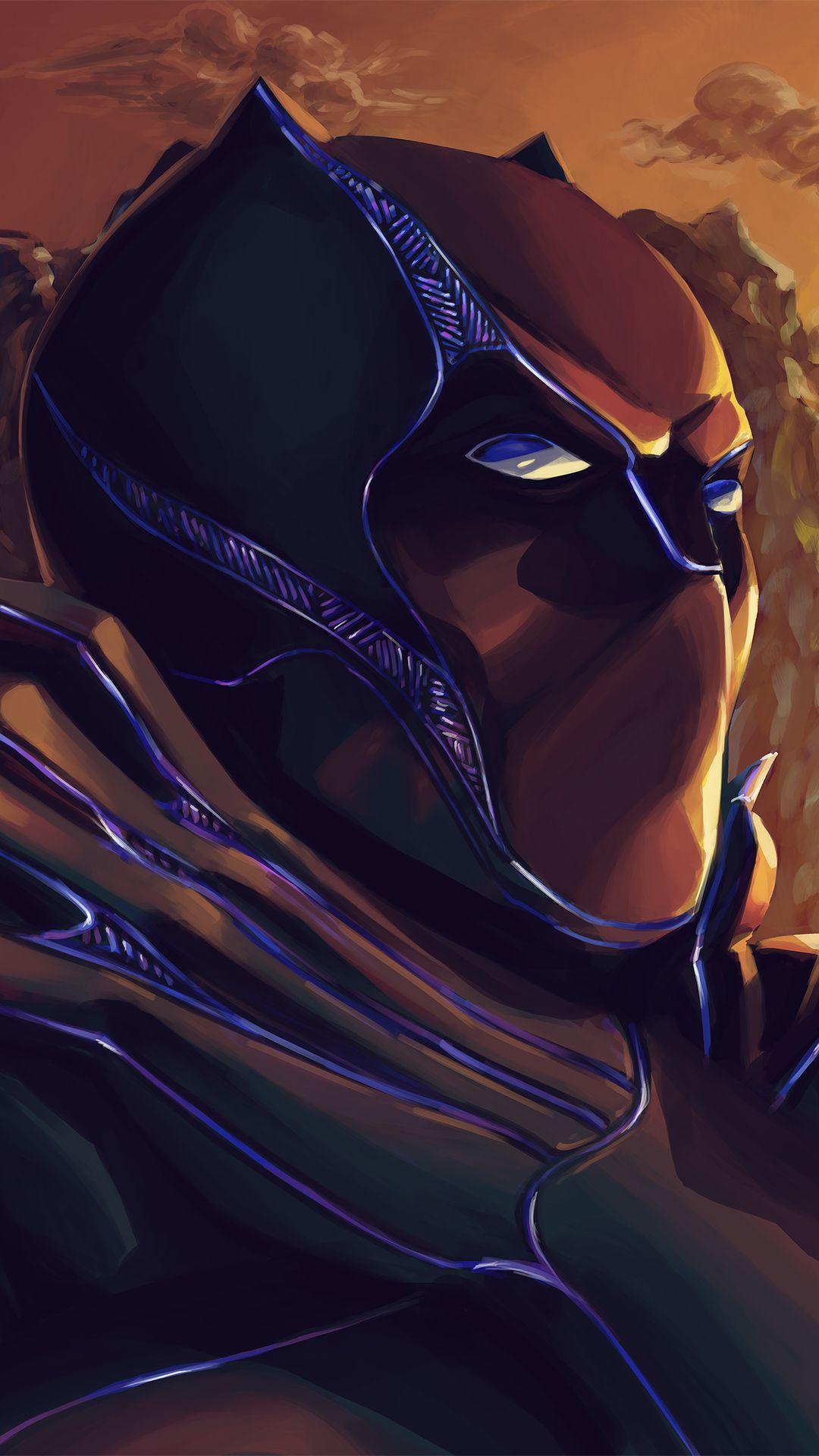 Black Panther Closeup Art Mobile Wallpaper (iPhone
