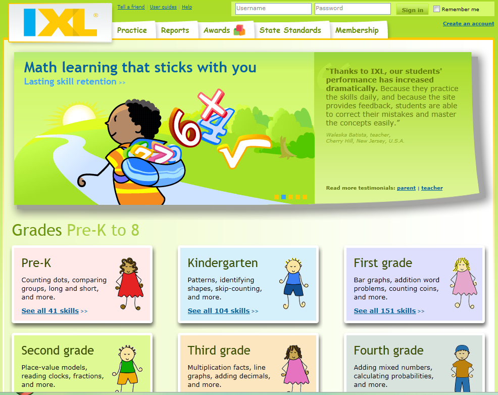 IXL Math Activities. Awesome online math learning for pre k and up ...
