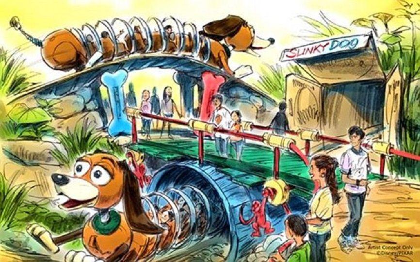 Toy Story Land slinky coaster