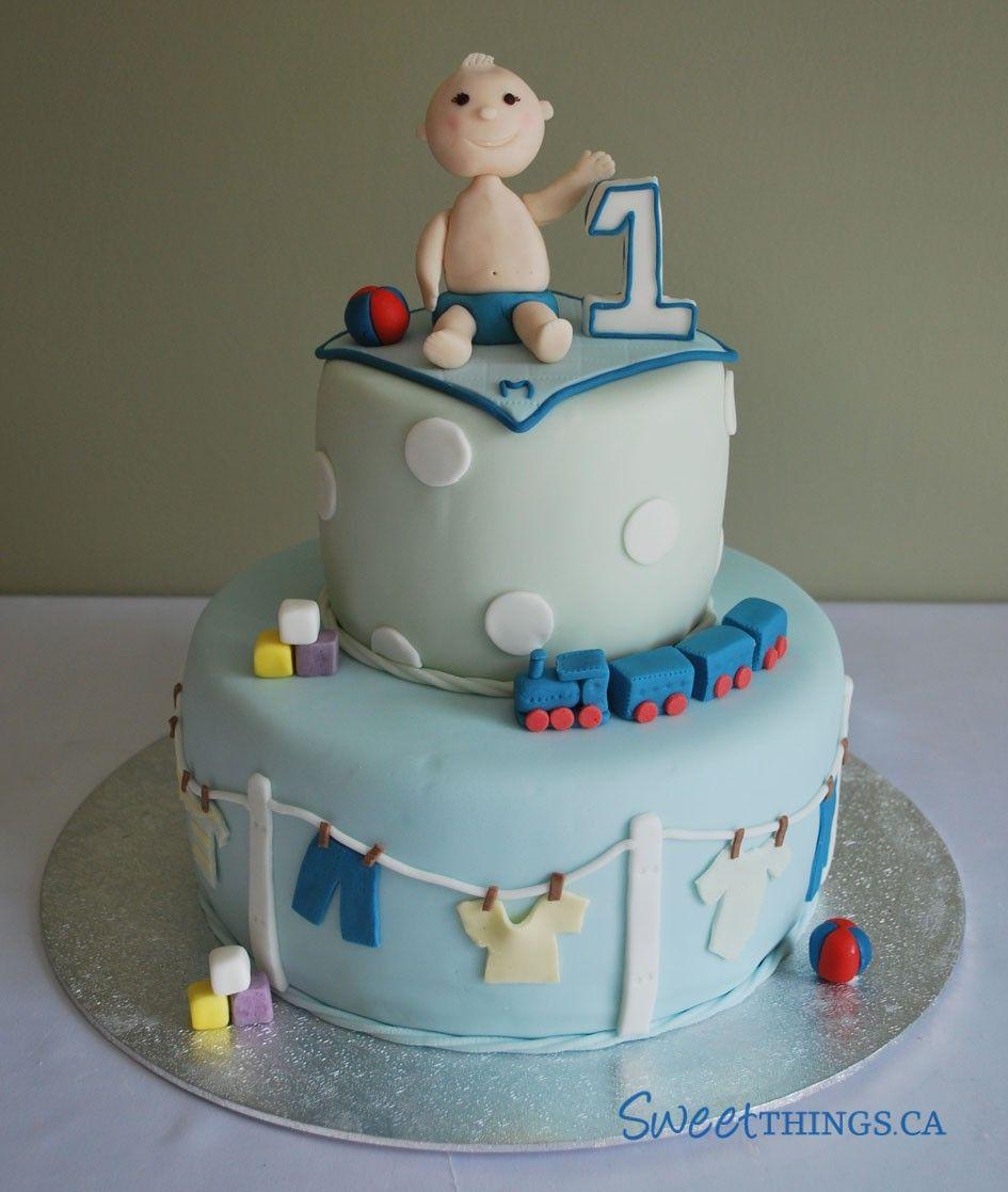 1st Birthday Cakes For Boys Design Dlices Treats Pinterest