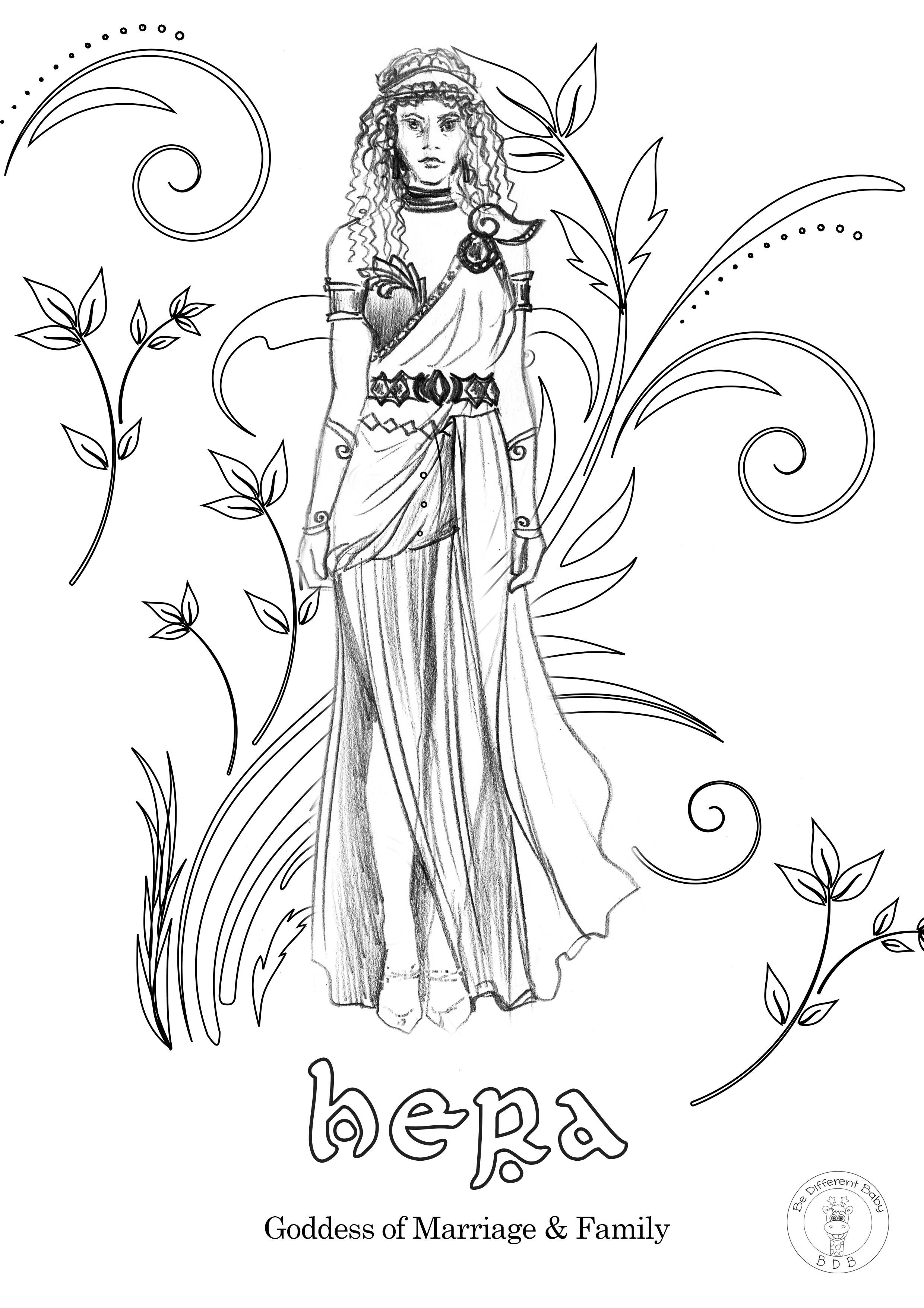 Greek Gods Coloring Book/ 34 donwloadable pages full of