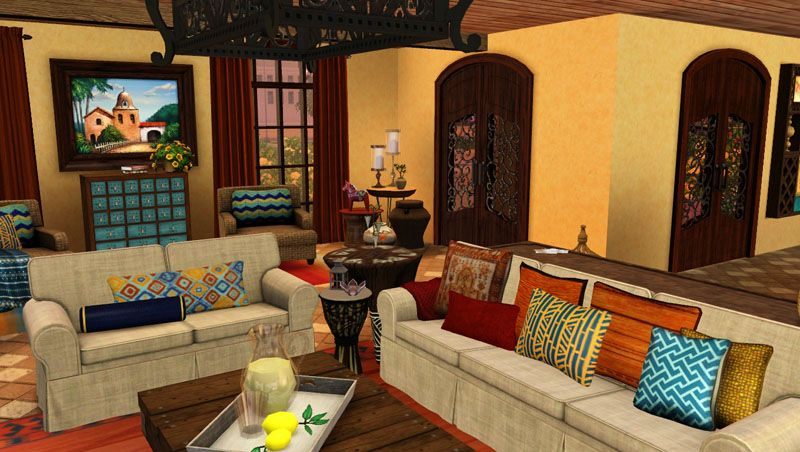 Mexican Style Living Room Awesome Living Room Trumpets0Ng  Sims 3 Design Inspirations  Pinterest . Decorating Inspiration