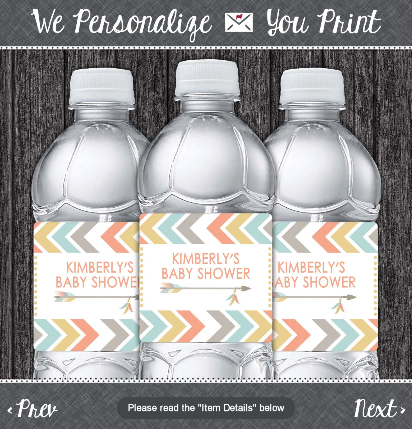 Diy Water Bottle Tribal Water Bottle Labels Printable Tribal Baby Shower Party