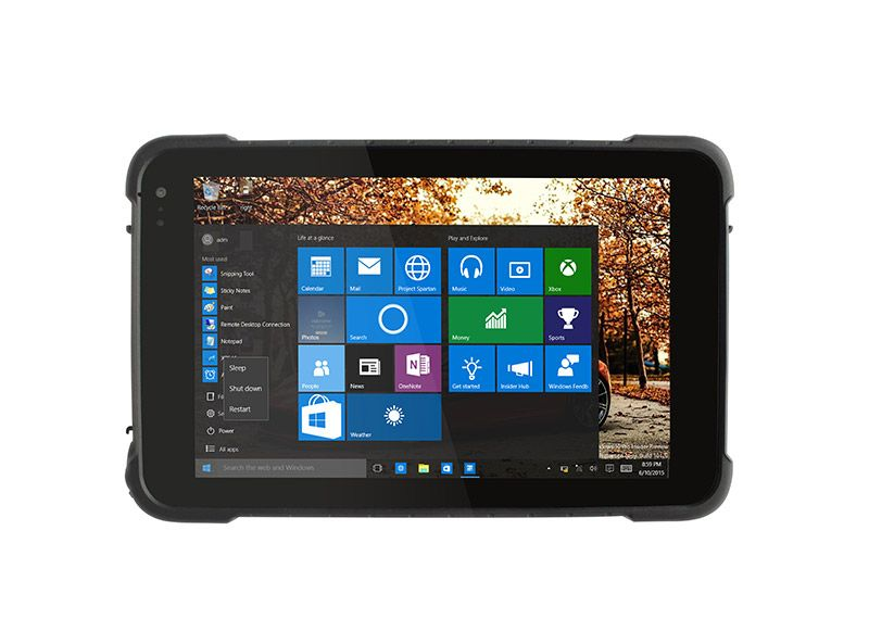 8 Inch Rugged Tablet Pc Em I86h Rugged Ip67 Protective Grade For Waterproof Dustproof Intel Atom X5 Z8350 Cherry Trai Rugged Tablet Tablet Windows Tablet