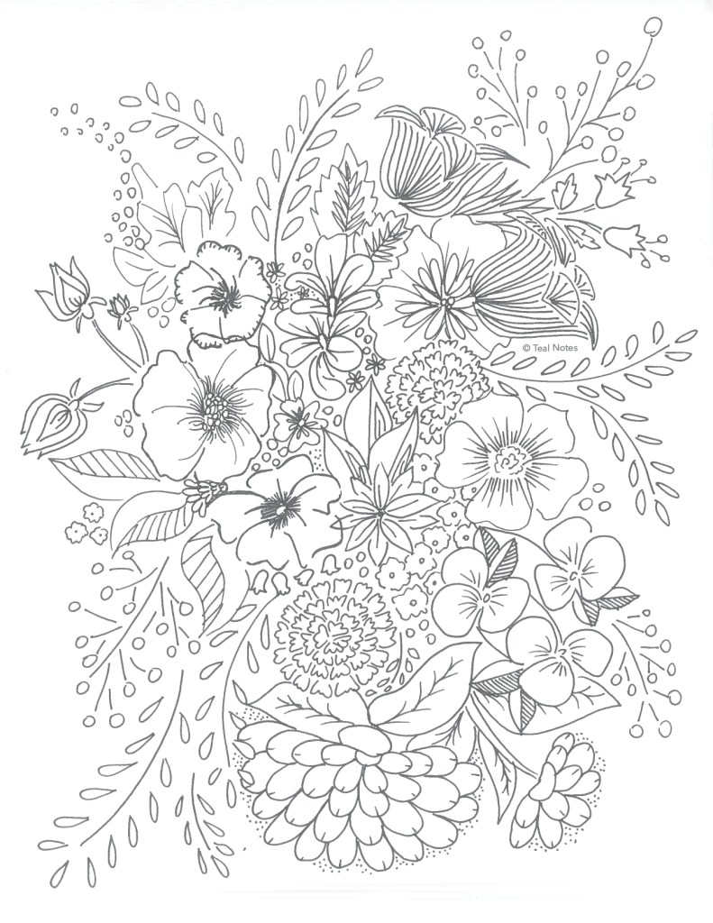 Free Printable Coloring Pages Flower Coloring Page Printable Flower Coloring Pages Flower Coloring Pages Free Adult Coloring Printables