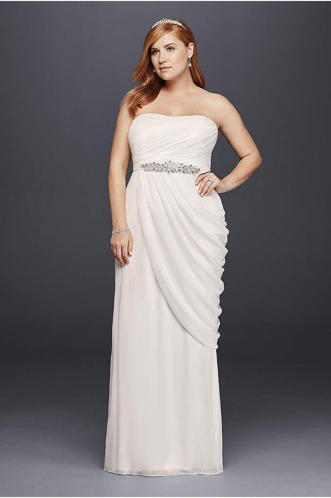 Chiffon Empire Waist Plus Size Wedding Dress - Davids Bridal ...