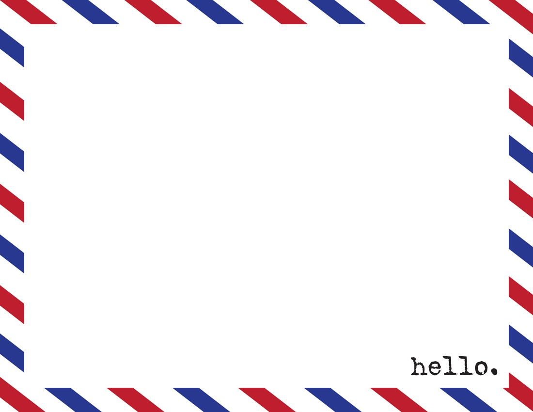 Airmail Envelope Template | Another New Listing In My Etsy Shop! What Do  You Think