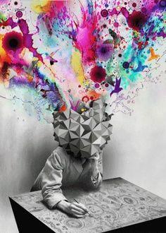 el caos en la mente, como se mezclan los recuerdos que quedan con la realidad y como esto crea confusión.