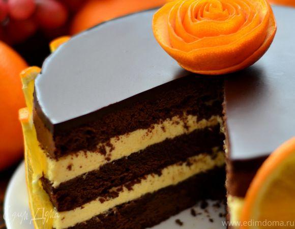 шоколадно апельсиновый торт рецепт