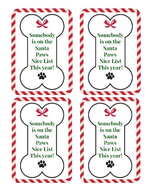 Free Printable Diy Dog Treat Gift Tag Treatthepups Gift Ideas