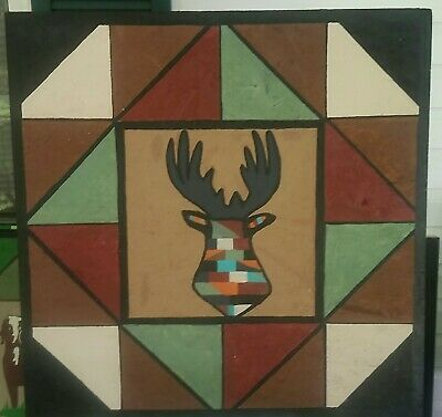 Barn Quilt Wood Picture Sign 29 X 29 Deer  #fashion #home #garden #homedcor #plaquessigns (ebay link)