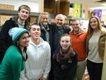 St. Mary Family Center - Bishop Richard Pates with Volunteers for Holiday food box distribution