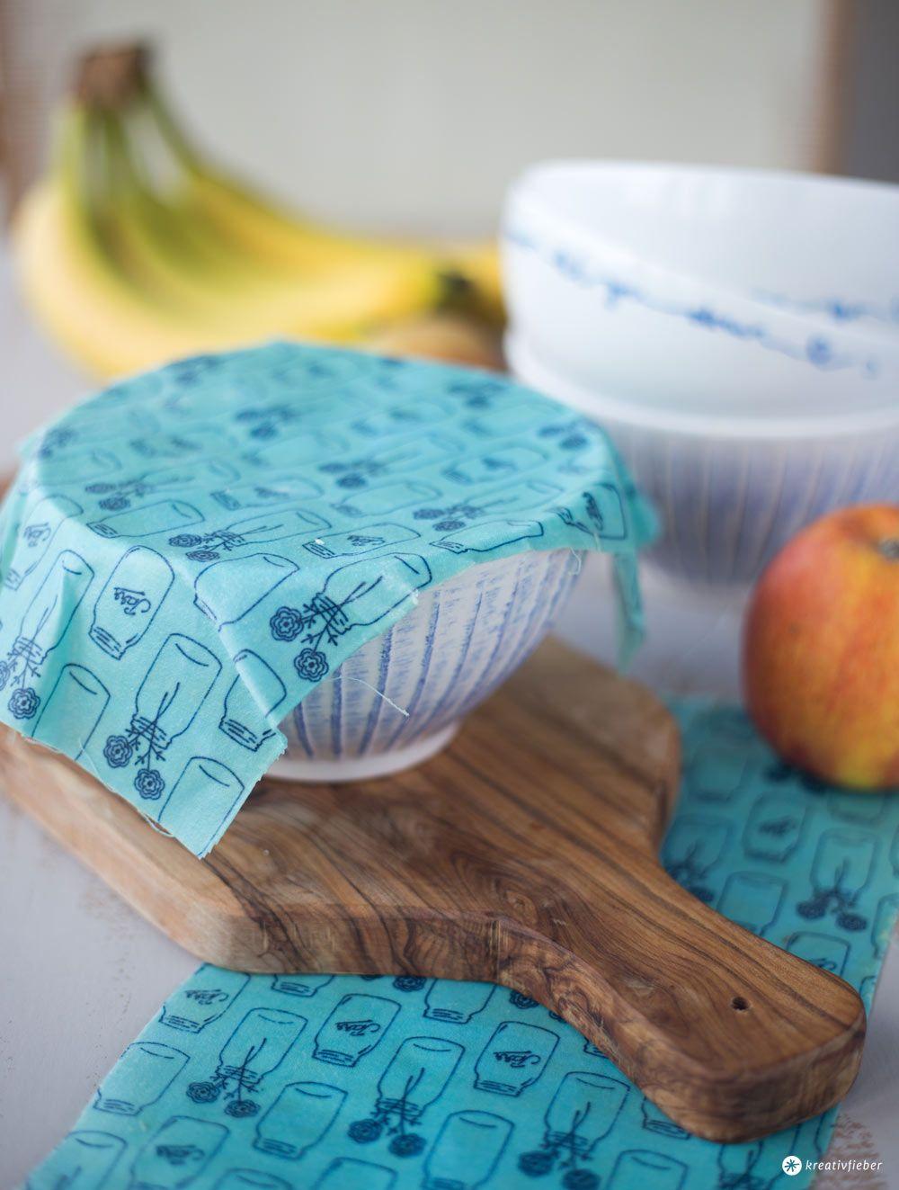 DIY Wachstücher selbermachen - wiederverwendbar Frischhaltefolienersatz #makeclothes