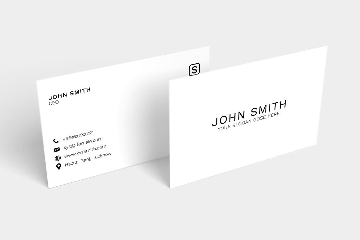 200 Free Business Cards Psd Templates Minimal Business Card Business Card Template Photoshop Free Business Card Templates