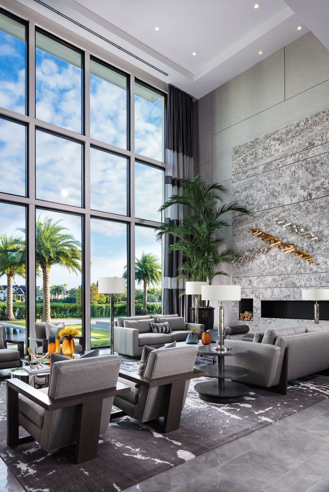 Delray Beach Home By Lesly Maxwell Interiors Using Our Roger Lounge Chairs And Clip Sofa Elegant Living Room Interior Home
