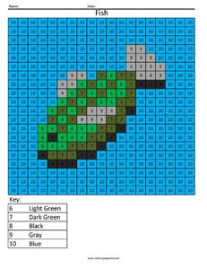 Minecraft Fish Color By Number Coloring Squared Minecraft Coloring Pages Minecraft Pixel Art Coloring Pages