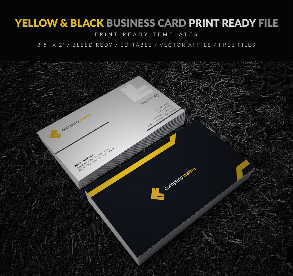 Our latest creation is editable business card vector free file for ...