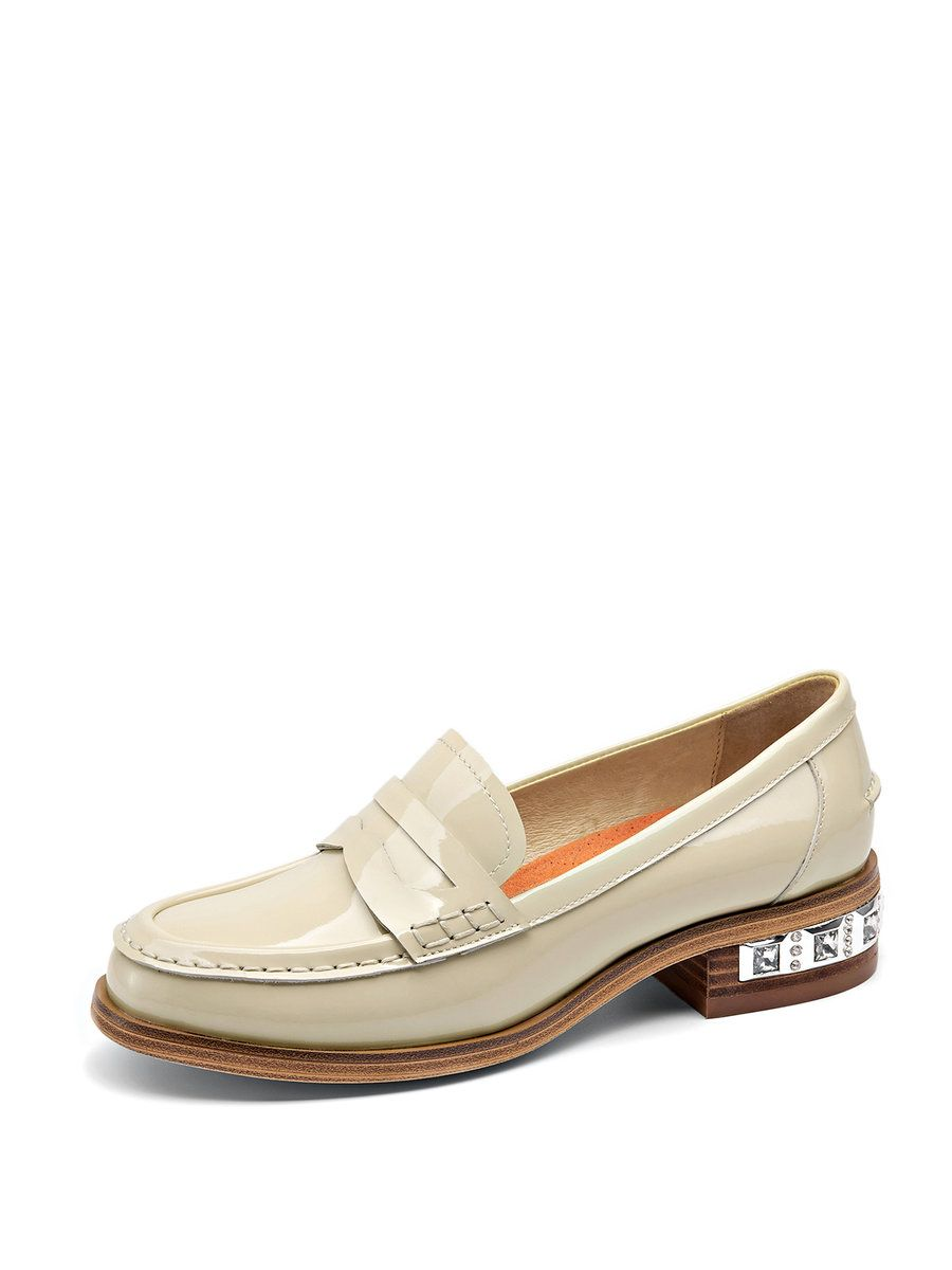 Adorewe Stylewe Loafers Beau Today Apricot Leather Casual Comfort D Island Shoes Slip On Dark Brown Low Heel