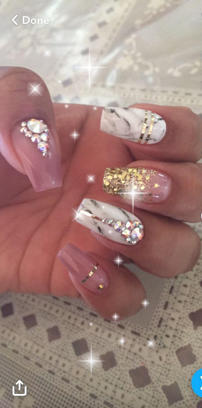 SnapC nancii.g #nails #crystals #Swarovski #longnails #natural ...