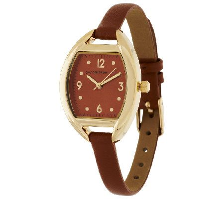 Isaac Mizrahi Live! Skinny Strap Watch Leather, Watches
