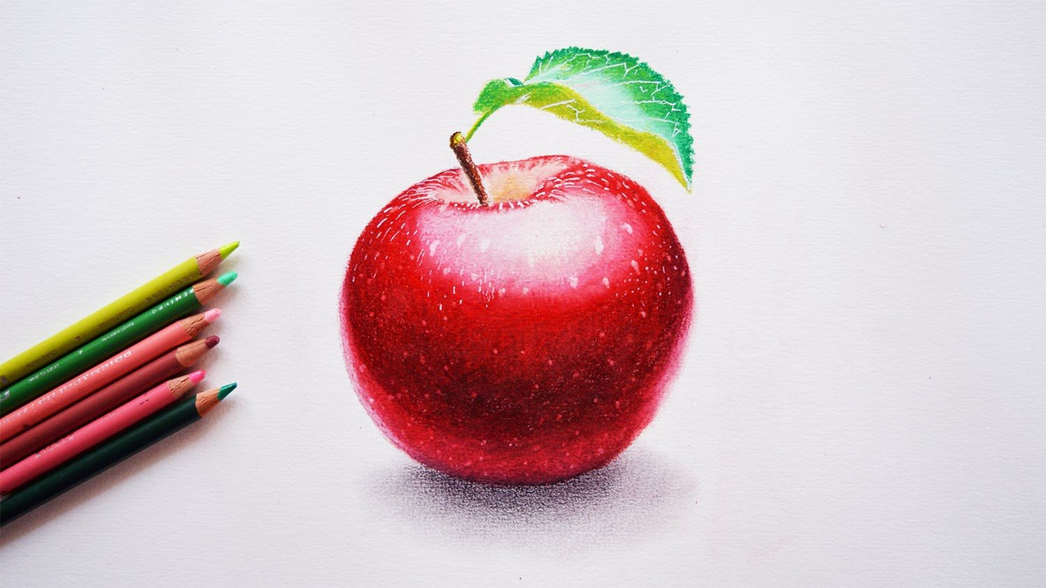 How to draw an apple Step by step tutorial Prismacolor