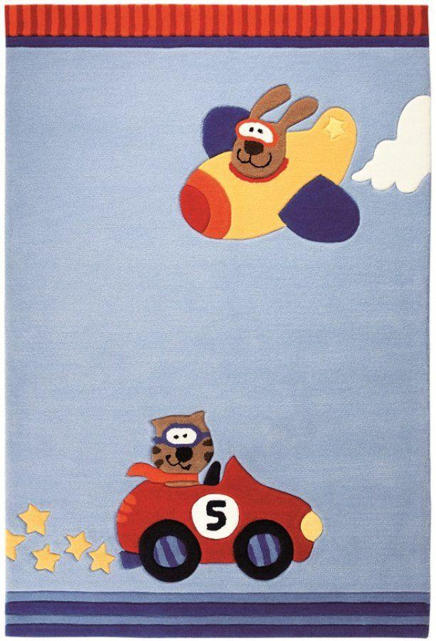 Kinderteppich Sigikid HAPPY STREET Cars SK-3343-01 hellblau - Raum Quadrat - Fashion your Room! Der Onlineshop für Designer- und Hochflorteppiche