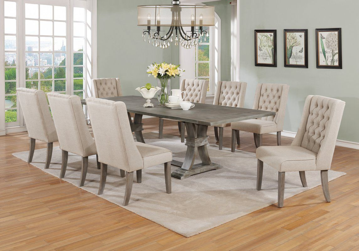 Real Home Inspiration dining room table sets seats 9 that look ...