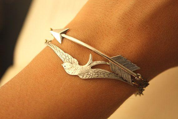 Bird and Arrow Bracelet