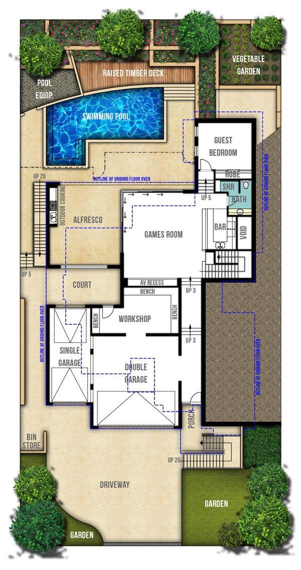 Two Storey House Plans - The Hampton Lower Ground Floor | big plans ...