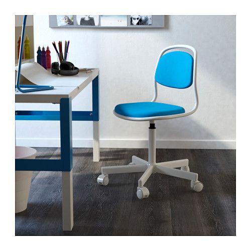 ÖRFJÄLL Child\u0027s desk chair, white, Vissle bright blue in 2018 Kids