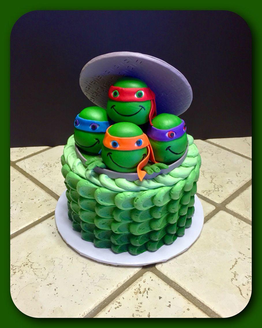Teenage Mutant Ninja Turtle Smash Cake Ninja Turtles Birthday Party Ninja Turtle Birthday Turtle Birthday Parties