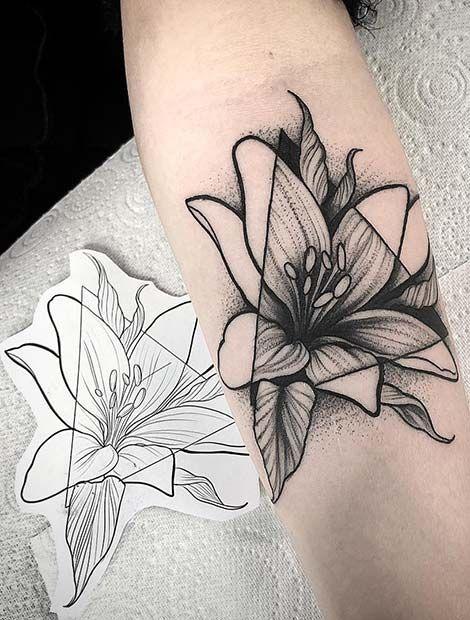 23 jolies idées de tatouage Lily pour femmes - StyleTatouages #tattoosandbodyart