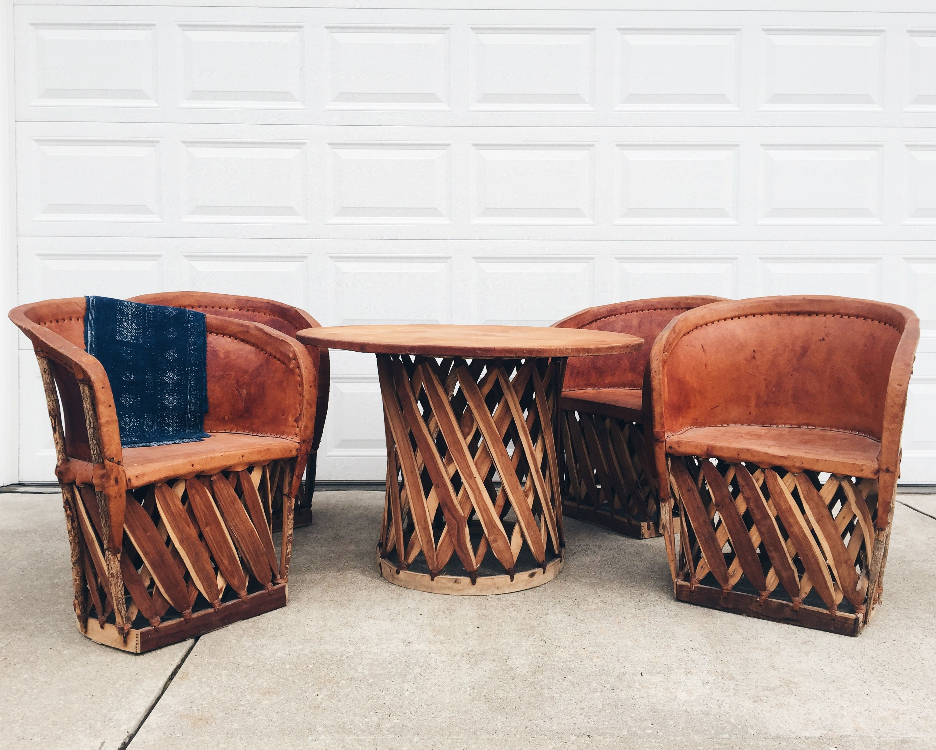 Mexican Equipale Leather Table And Chairs Equipale Dining Set