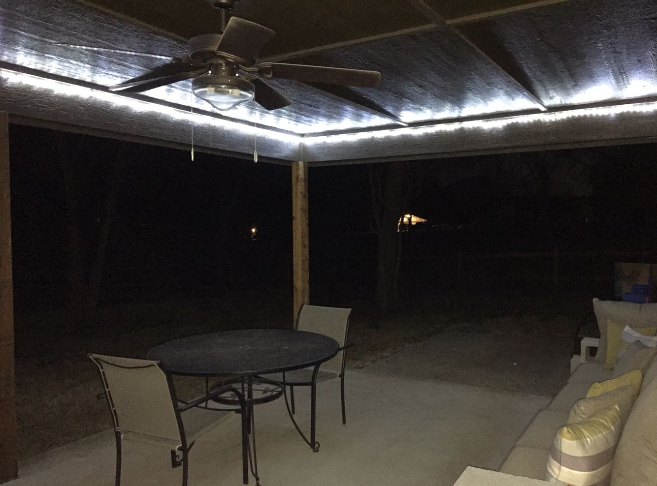 Led Rope Lights Lowes Custom Led Rope Lights On Inside Corner Of The Patiosince The Plastic 2018