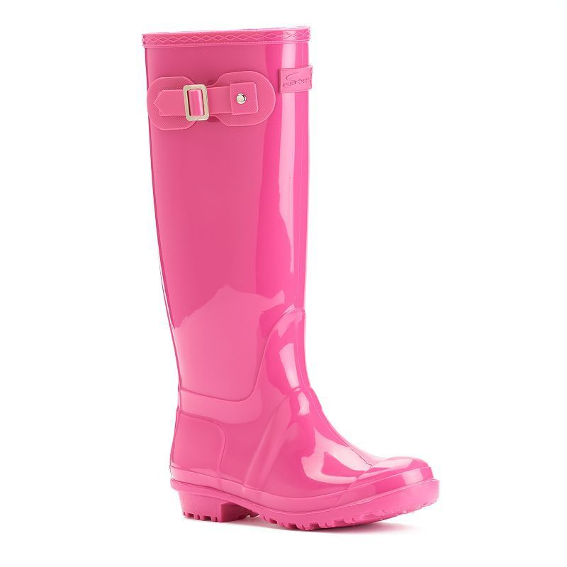 Seven7 British Girl Women's Waterproof Rain Boots, Size: 11, Dark ...