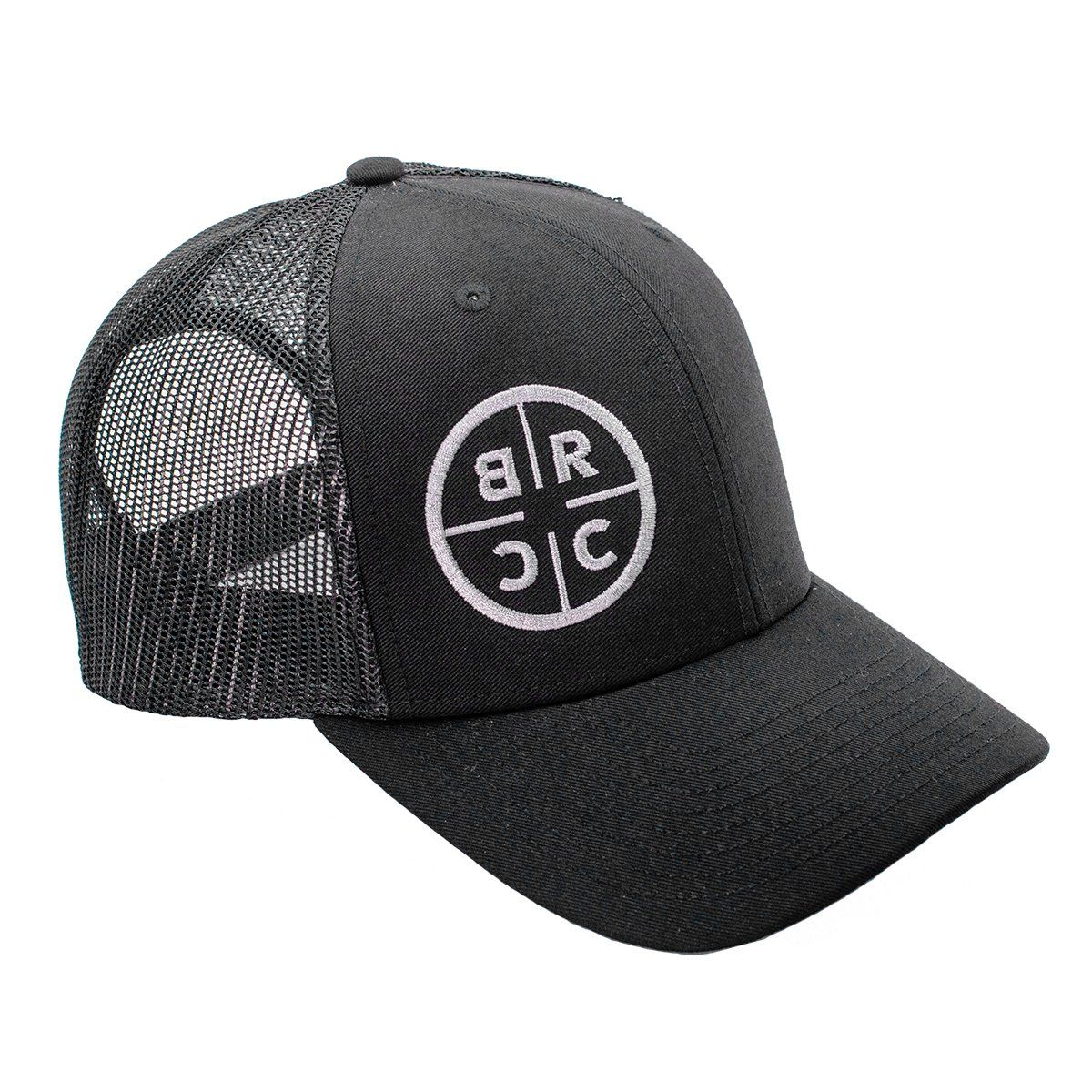 BRCC Circle Logo Trucker Hat Black w/Black Mesh