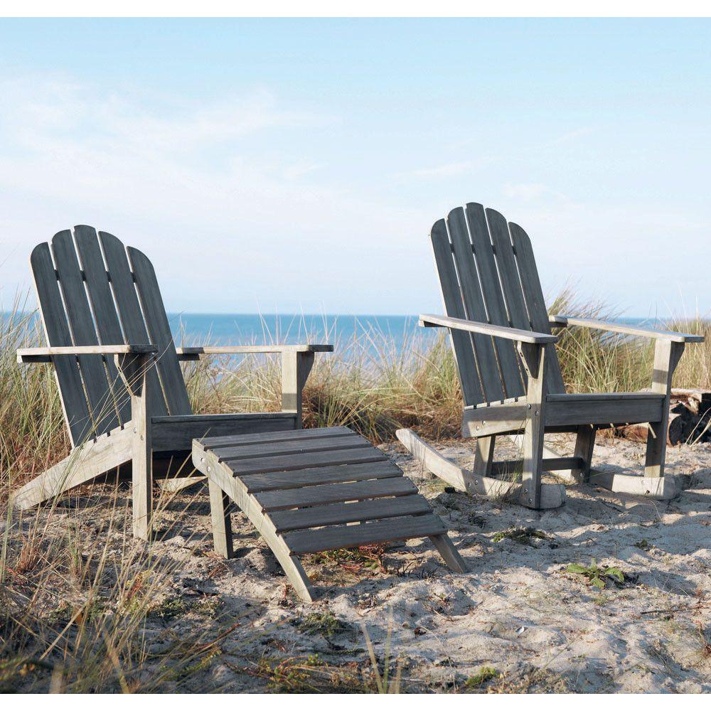 Liegestuhl aus Akazienholz, taupe Ontario   Maisons du Monde