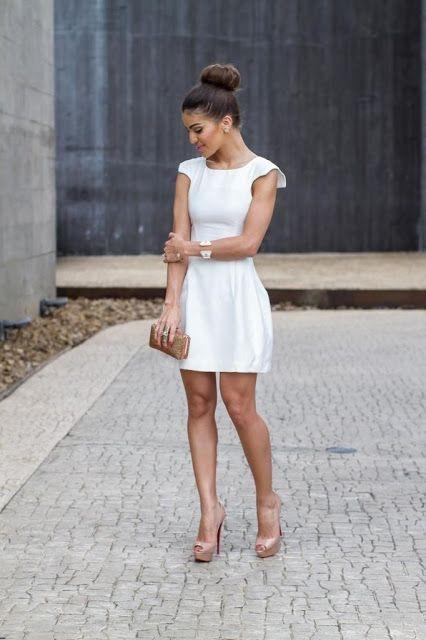 Vestido blanco corto boda civil