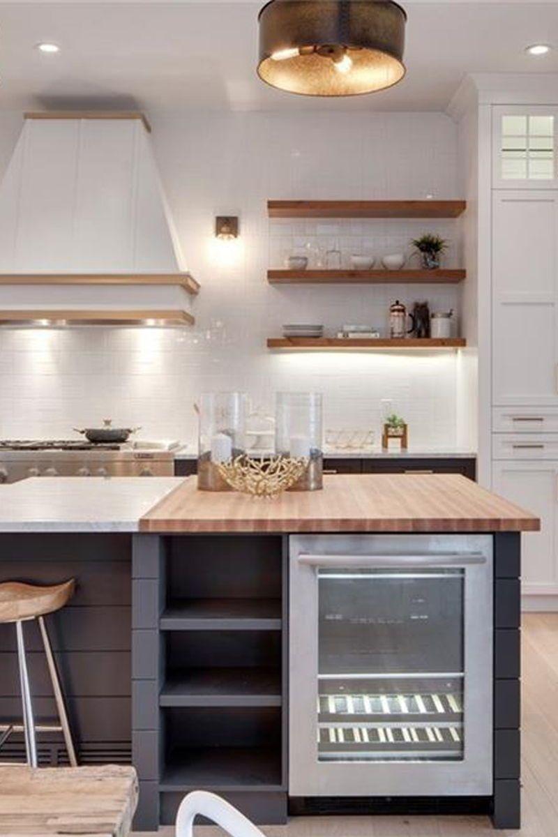 The Modern Farmhouse Kitchen Of My Dreams Modern Kitchen Island