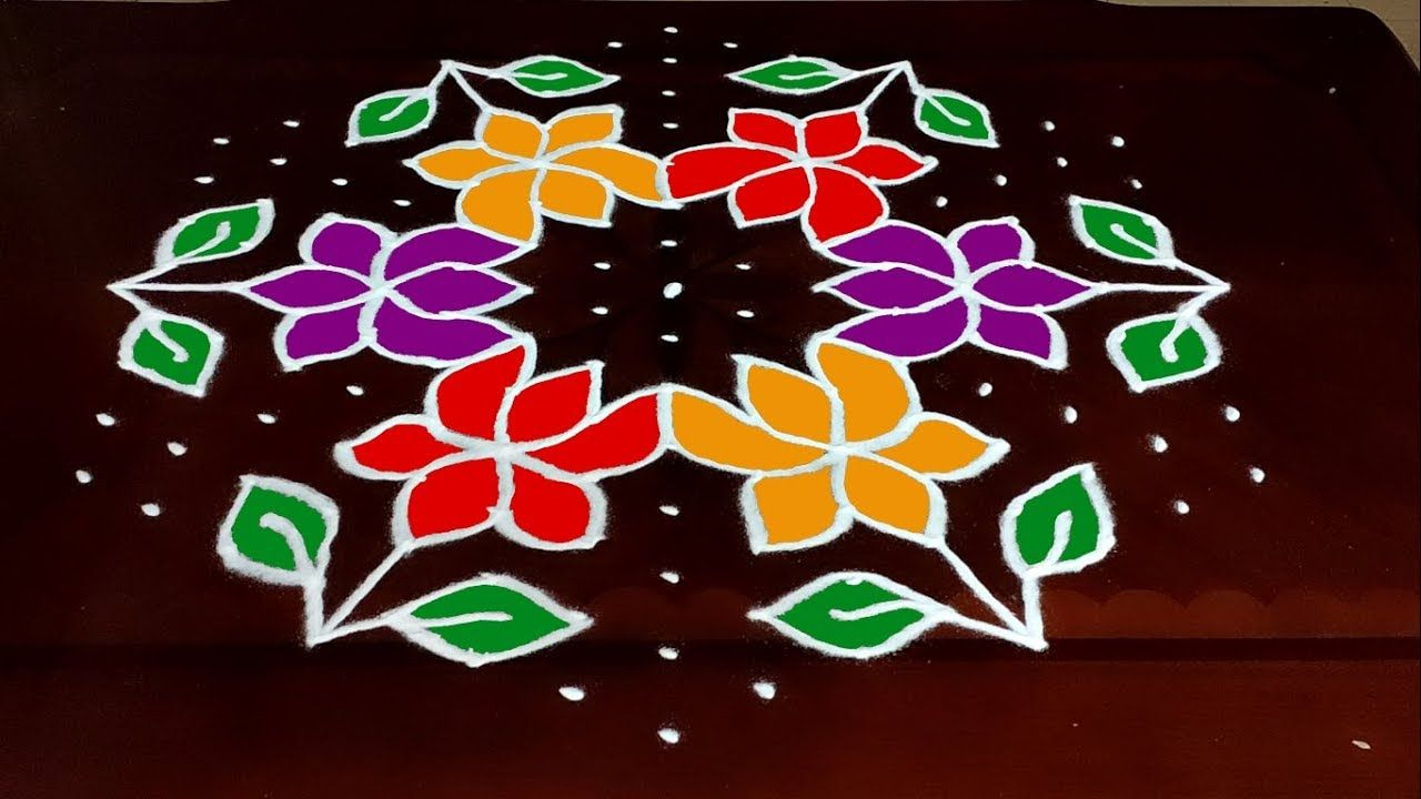 Dot Rangoli 15 to8 Happy New Year Rangoli 2020