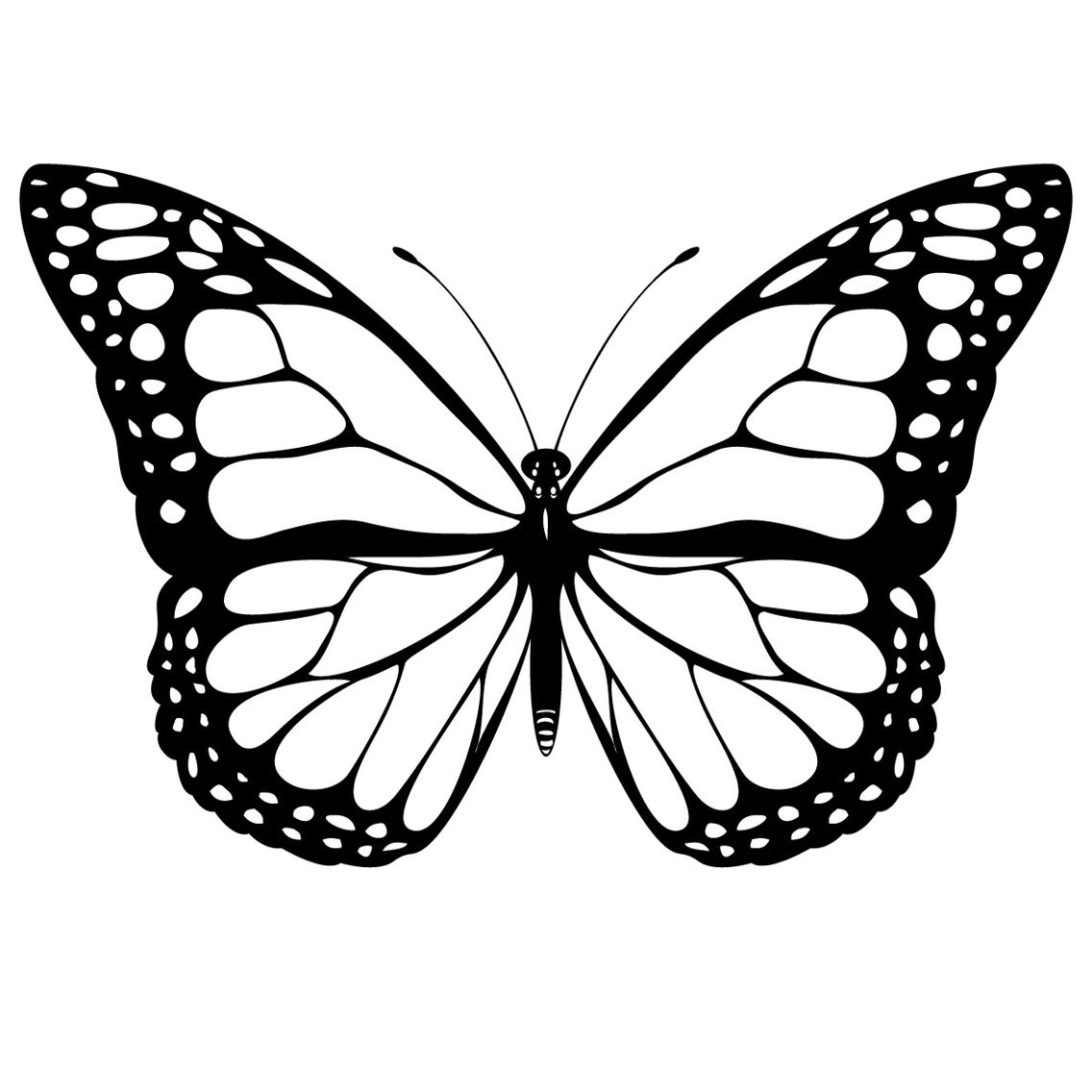 Butterfly Butterfly Clip Art Butterfly Printable Butterfly Coloring Page