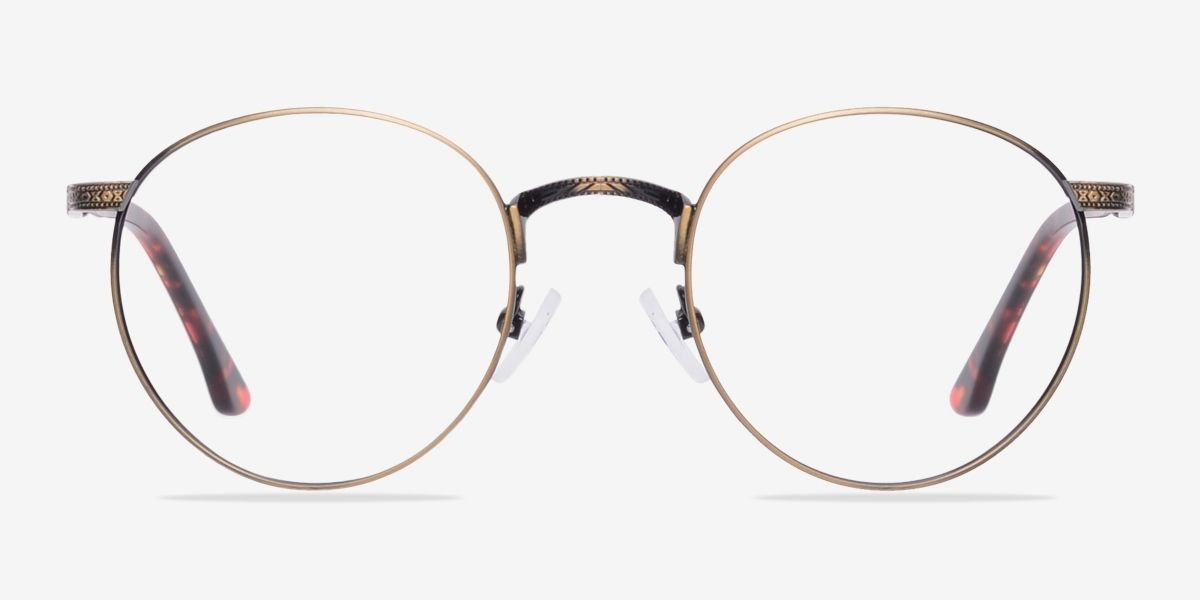 6d2cfe6dba Fitzgerald Bronze Metal Eyeglasses from EyeBuyDirect. Exceptional style