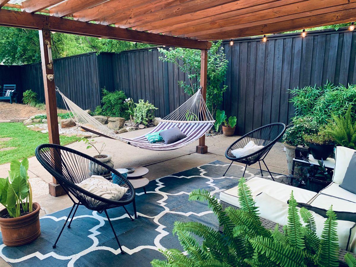 #porch #hammock #acapulcochair #backyard #backyardideas #porchdecor