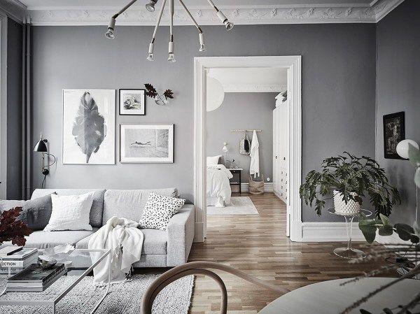 Casa con pareti grigie e soffitti bianchi nel 2019 for Pareti grigie soggiorno